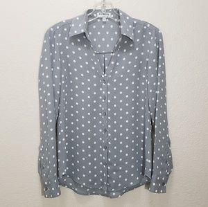Express polka dot blouse